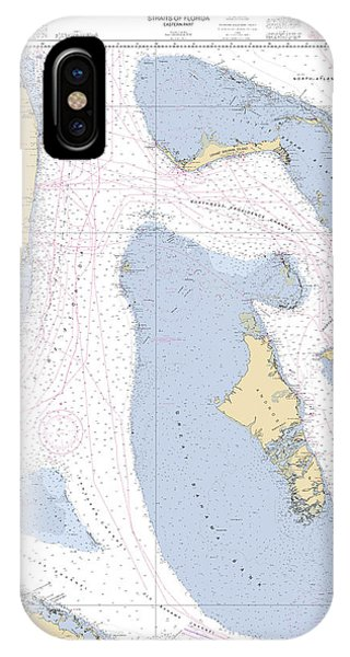Straits Of Florids, Eastern Part Noaa Chart 4149 Edited. IPhone Case