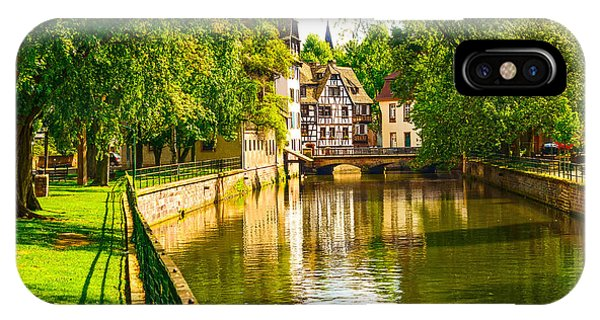 Old Building iPhone Case - Strasbourg, Water Canal In Petite by Stevanzz