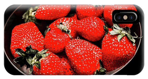 Fruit Bowl iPhone Case - Strawberry Cocktail by Jorgo Photography - Wall Art Gallery