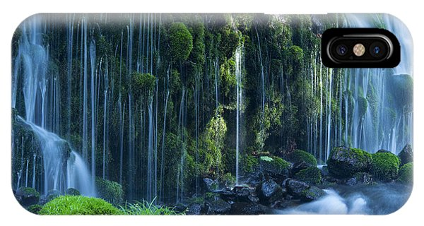 River Flow iPhone Case - Stream In Green Forest by Mp p