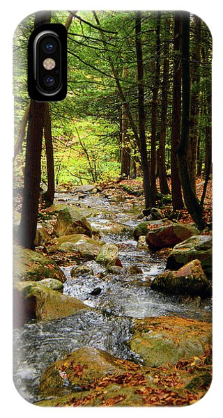IPhone Case featuring the photograph Stream Rages Vertical Format by Raymond Salani III