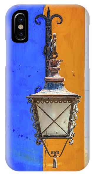 Street Lamp Of Obidos IPhone Case