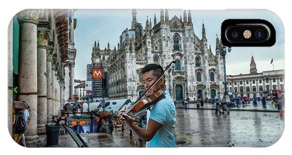 Street Music. Violin. IPhone Case