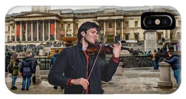 Street Music. Violin. Trafalgar Square. IPhone Case