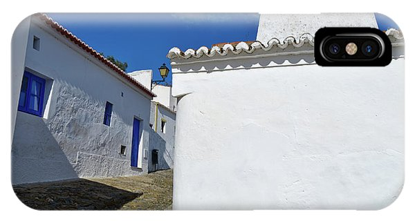 Streets Of A Medieval Castle. Alentejo IPhone Case