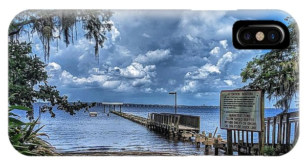 Strolling By The Dock IPhone Case
