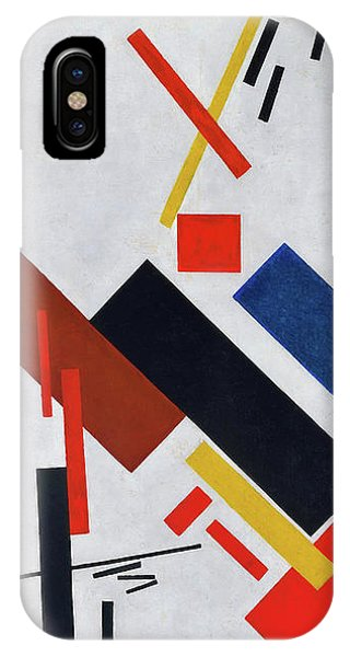 Russian Impressionism iPhone Case - Stroyuschiysya Dom - Digital Remastered Edition by Kazimir Severinovich Malevich