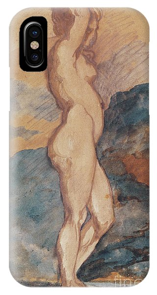 Awakening iPhone Case - Study Of A Nude Woman by Theodore Gericault
