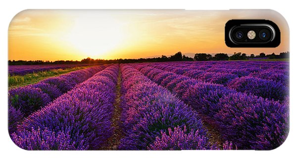 Scent iPhone Case - Stunning Landscape With Lavender Field by Oleg Znamenskiy