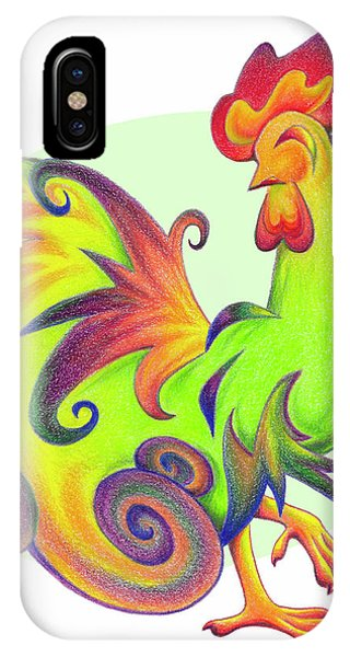 Stylized Rooster I IPhone Case