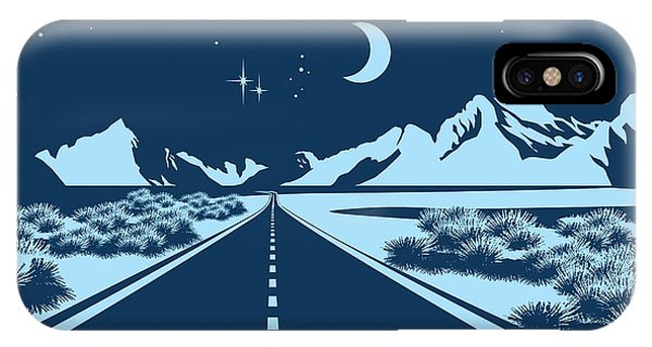 Shrub iPhone Case - Stylized Vector Illustration Of A Night by Andrii Stepaniuk
