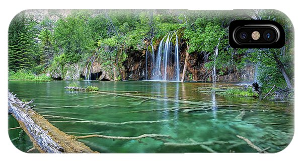 Submerged Log, Hanging Lake Colorado IPhone Case