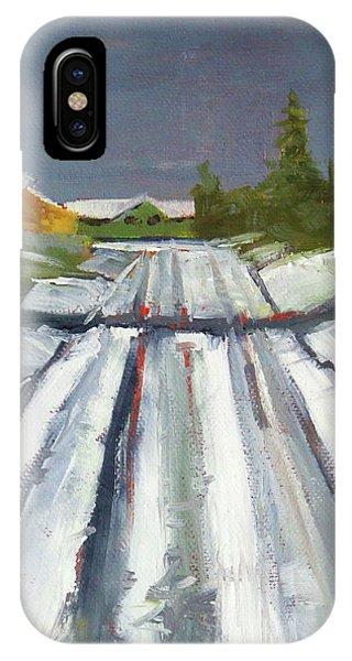 Neighborhood iPhone Case - Suburban Winter by Nancy Merkle
