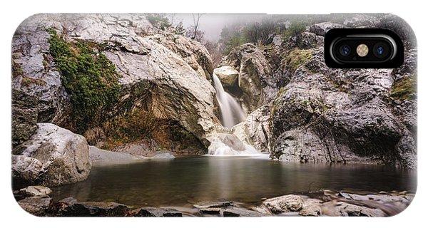 IPhone Case featuring the photograph Suchurum Waterfall, Karlovo, Bulgaria by Milan Ljubisavljevic