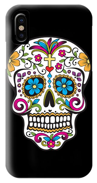 Sugar Skull Day Of The Dead IPhone Case
