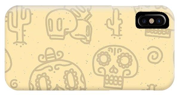 Sugar Skulls Sand Seamless Vector Phone Case by Dmitriylo