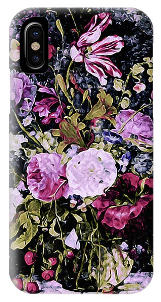 IPhone Case featuring the mixed media Summer Bouquet by Susan Maxwell Schmidt