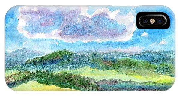 Summer Cloud In The Azure Sky IPhone Case