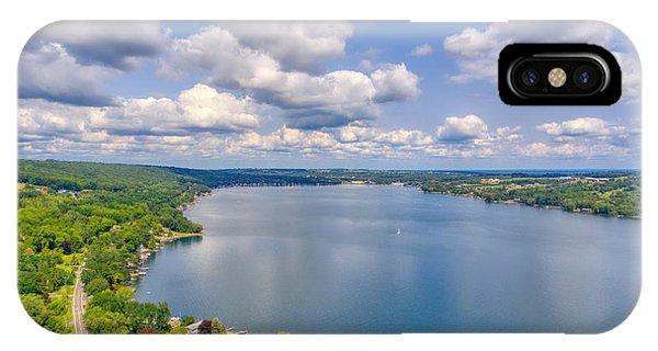Summer Clouds On Keuka Lake IPhone Case