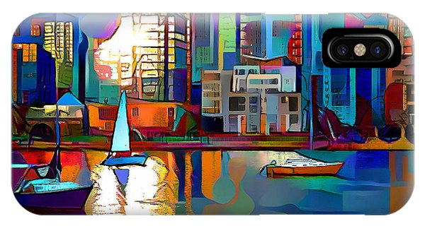 IPhone Case featuring the digital art Summer In The City by Pennie McCracken