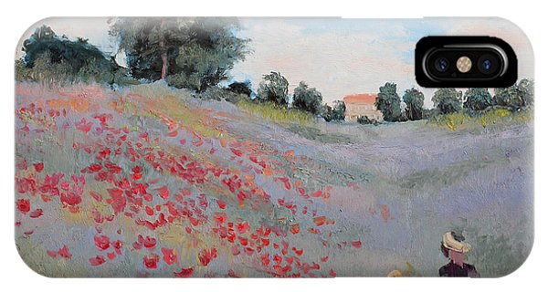 Shadow iPhone Case - Summer Landscape Oil Painting by Erissona