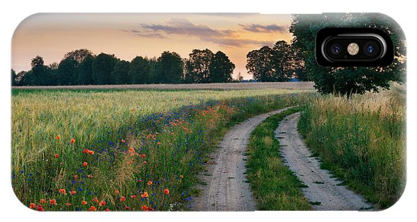 Ripe iPhone Case - Summer Landscape With Country Road And by Ysuel