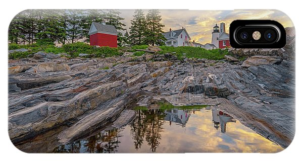 Summer Morning At Pemaquid Point Lighthouse IPhone Case