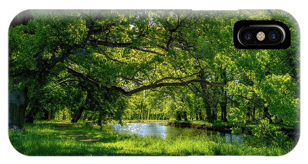 Panorama iPhone Case - Summer Morning In The Park by Nicklas Gustafsson