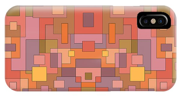 Summer Peach Abstract IPhone Case