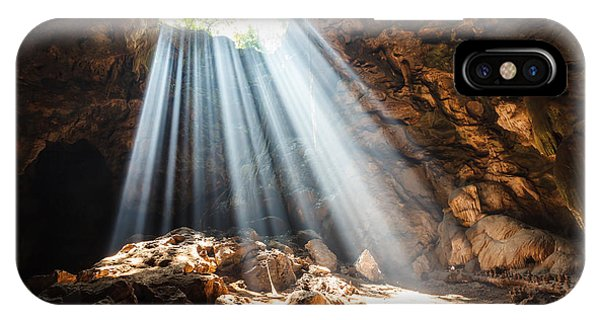 Sandstone iPhone Case - Sun Beam In Cave by Panyajampatong