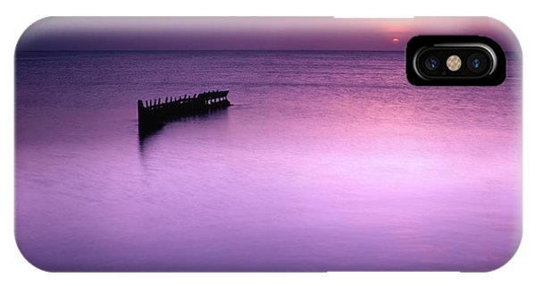 Sun Sets On A Sunken Boat IPhone Case
