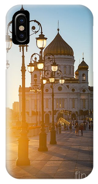 Dome iPhone Case - Sun Sinking Behind The Cathedral Of by Madrugada Verde