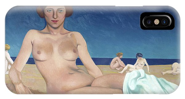 Sunbather iPhone Case - Sunbathing On The Beach  by Felix Vallotton