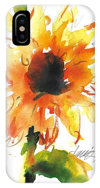 Sunflower Too - A Study IPhone Case