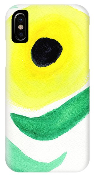 IPhone Case featuring the painting Sunflower by Bee-Bee Deigner