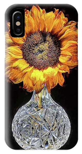 IPhone Case featuring the digital art Sunflower Still Life by JC Findley