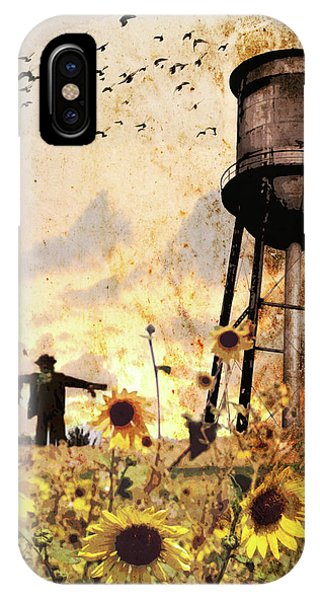 Sunflowers At Dusk IPhone Case