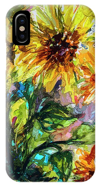 Sunflowers Summer Flowers Mixed Media IPhone Case