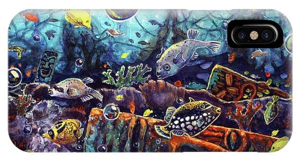 Sunken Tiki Reef IPhone Case
