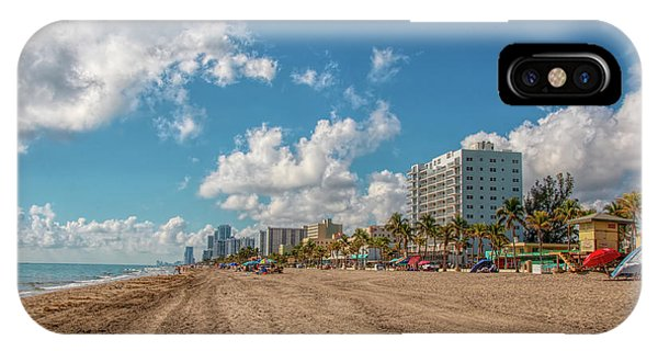 Sunny Day At Hollywood Beach IPhone Case