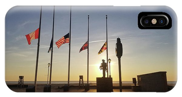 IPhone Case featuring the photograph Sunrise At Firefighter Memorial by Robert Banach