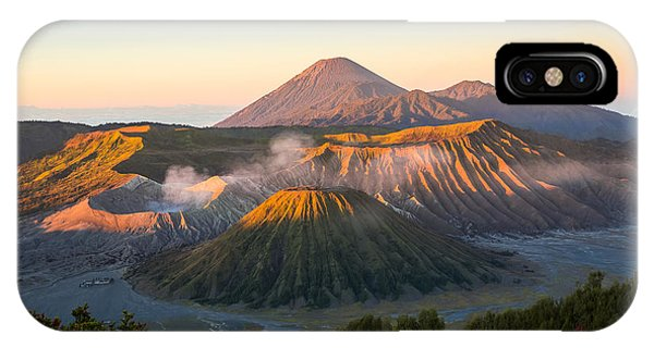 Beautiful Sunrise iPhone X Case - Sunrise At Mount Bromo Volcano, The by Twstock
