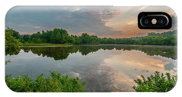 IPhone Case featuring the photograph Sunrise At Ross Pond by Matthew Irvin