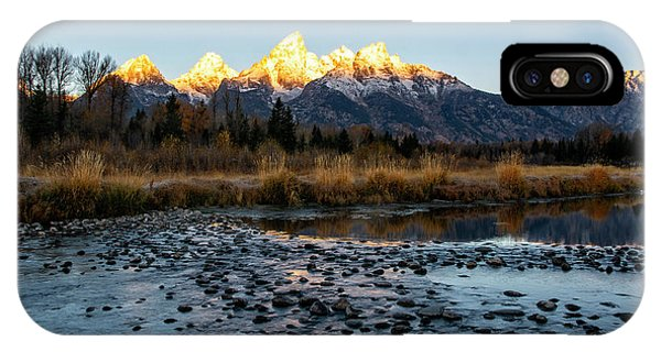 IPhone Case featuring the photograph Sunrise At Schwabacher Landing by Scott Read