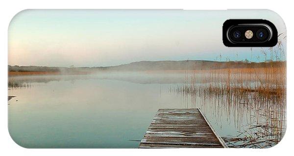 Beautiful Sunrise iPhone Case - Sunrise  At The Lake In Ireland by Kwiatek7