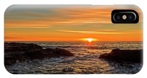 Sunrise By The Mediterranean Sea In Oropesa, Castellon IPhone Case