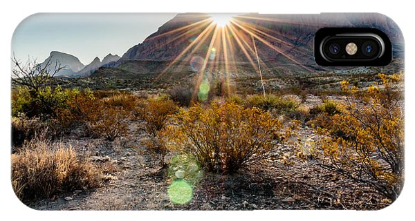 Cactus iPhone Case - Sunrise In The Chisos Mountains Big by B Norris