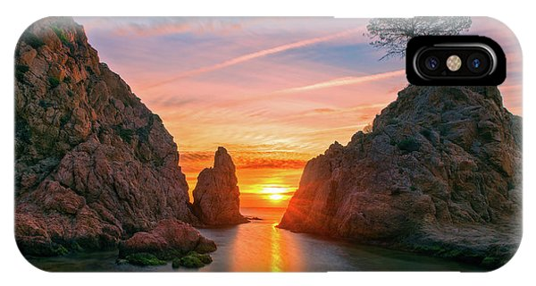 Sunrise In The Village Of Tossa De Mar, Costa Brava IPhone Case