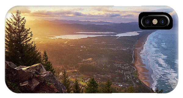 IPhone Case featuring the photograph Sunrise On Neahkahnie by Whitney Goodey
