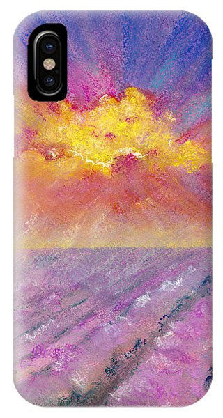 Lavender iPhone Case - Sunrise Over A Lavender Field - Landscape by Elena Sysoeva